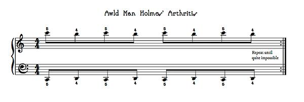 Awld Man Holmes' Arthritis by Gaynor Lei