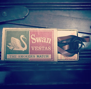 Swan Vesta Match Box containing the Viola Loop tapes by Robson Booth