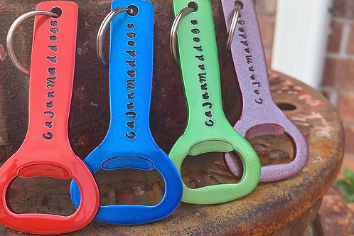 Custom Powder Coated Cajun Maddogs Key Chain Bottle Opener $14.95