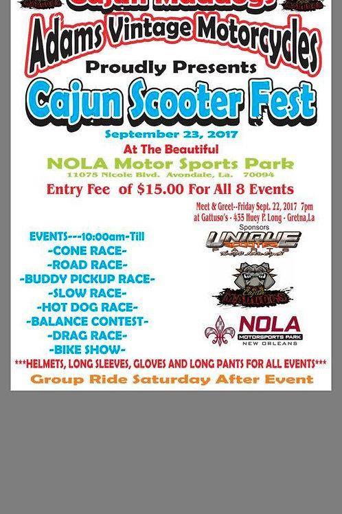 Cajun Scooter Fest Flyer