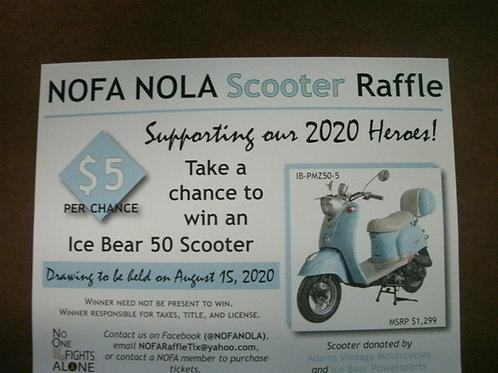 NOFA NOLA SCOOTER RAFFLE    $5.00