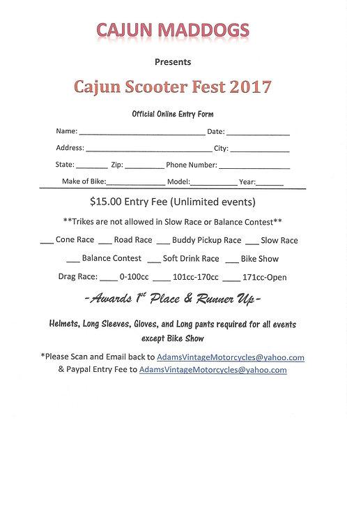 Cajun Scooter Fest 2017 Online Entry Form