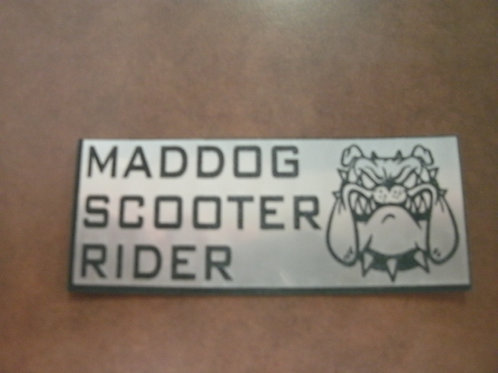 Maddog Scooter Rider Lazer Cut Sticker