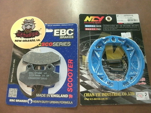 Maddog 50cc Brake Pads and Brake shoes Upgrade Kit $39.99