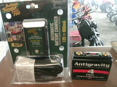 Antigravity 120cca Lithium-Ion Battery W/Battery Tender Junior Charger