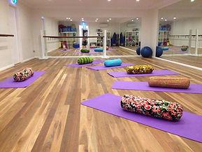 andrea yoga set up.JPG