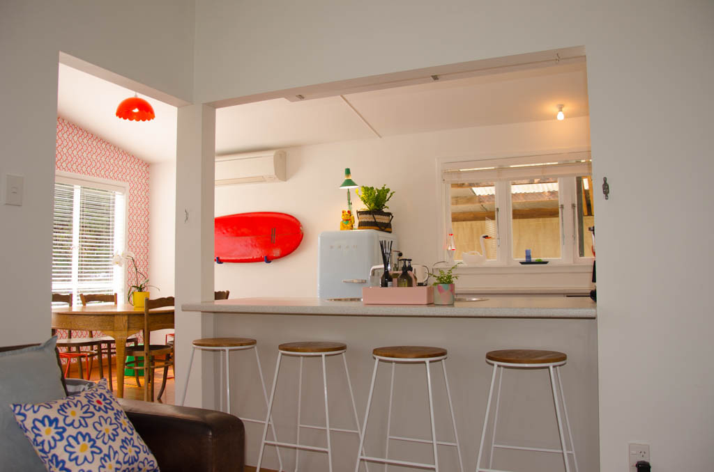 A breakfast bar in the kitchen makes meal times and cooking really sociable.