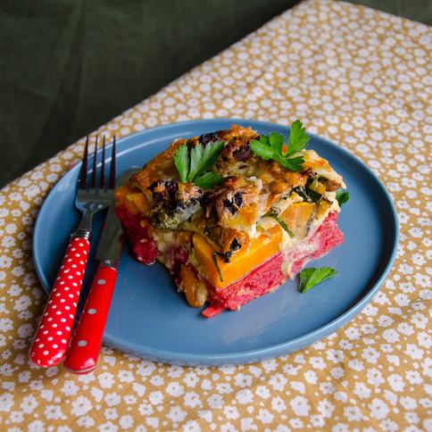 Rainbow Vegetable Lasagne