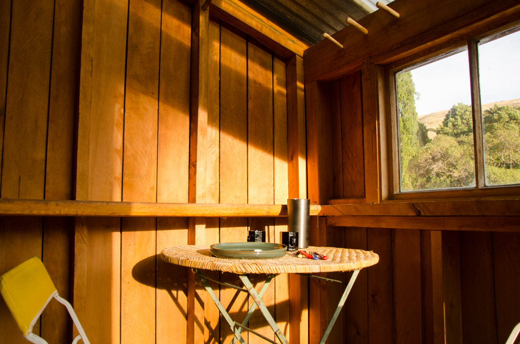 The covered balcony, the perfect sun trap to enjoy your morning coffee.