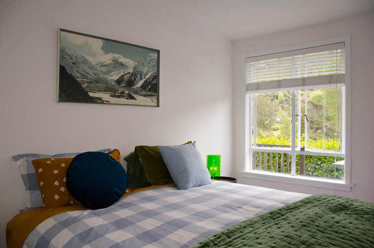 Bedroom with super king bed.