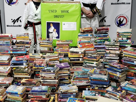 Local Black Belts Collect Books