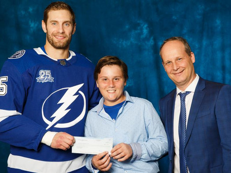 Vance Tomasi named Lightning Community Hero of Tomorrow