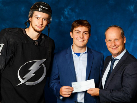 Chase Hartman honored as Lightning Community Hero of Tomorrow