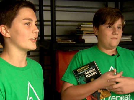 Middle school students start 'Read.Repeat.' non-profit saving 38,000 books from landfills