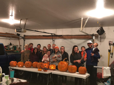 Pumpkin carving night with our community group