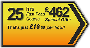 Fast Pass 25hr driving lesson package, Torquay, Paignton, Newton Abbot, Totnes, Brixham