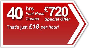 Fast Pass 40hr driving lesson package, Torquay, Paignton, Newton Abbot, Totnes, Brixham