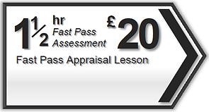 1.5hr Fast Pass driving lesson assessment Torquay, Paignton, Newton Abbot, Totnes, Brixham