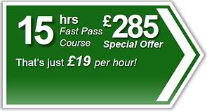 Fast Pass 15hr driving lesson package, Torquay, Paignton, Newton Abbot, Totnes, Brixham