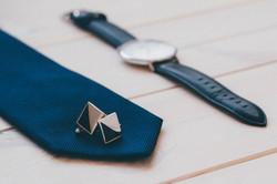 Cufflinks Tie and Watch