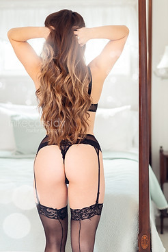 boudoir in stockings and garters