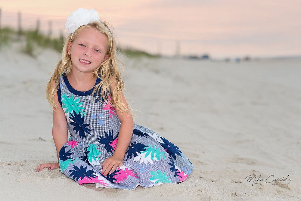 cute girl on the beach in Seaside Park NJ