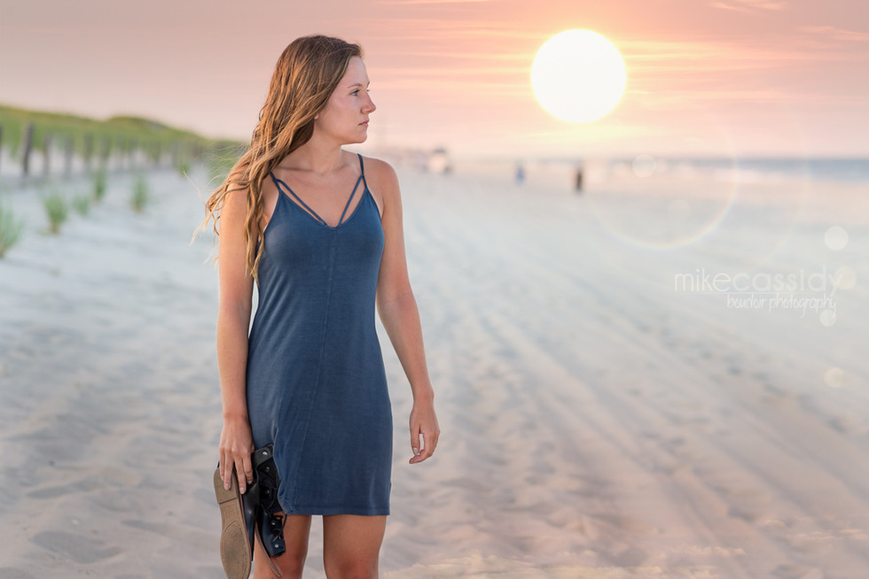 beach senior portraits