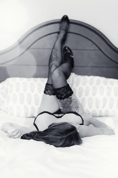 Legs Up Boudoir Pose