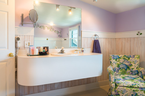 Private changing areas and rest rooms.