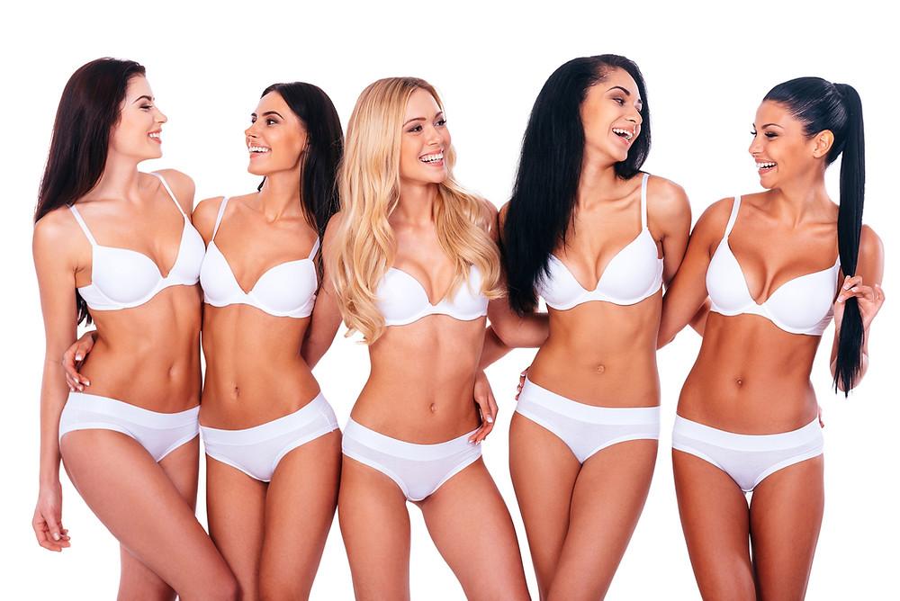 photo of women having a boudoir party