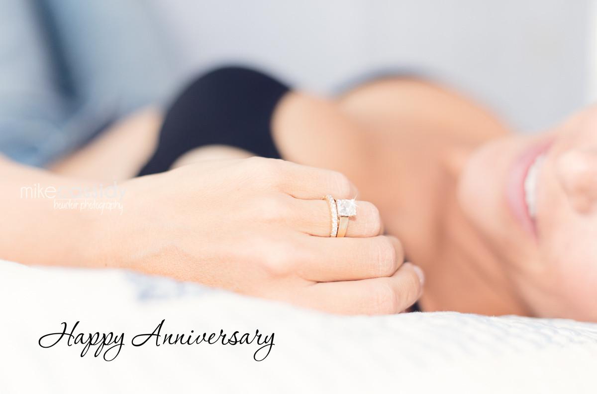 wedding ring boudoir pose