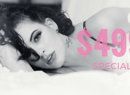 Final Days For Winter Boudoir $499 Special