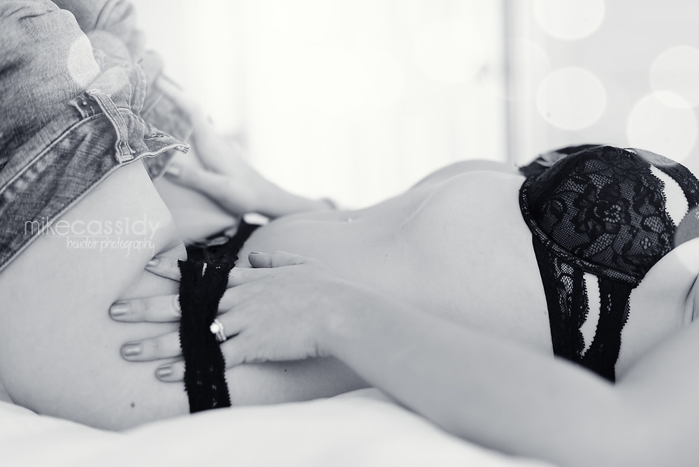 lay down boudoir pose