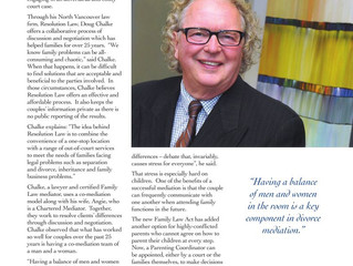 North Shore News Article, Profile of Excellence - Resolution Law
