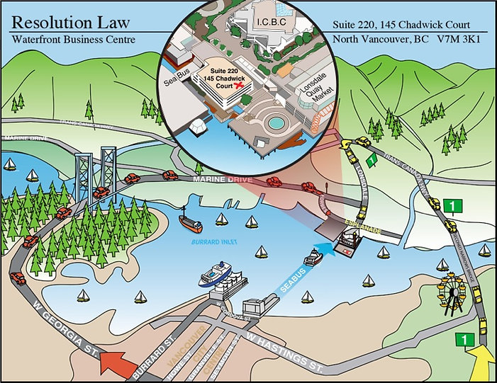 Resolution Law North Vancouver Map