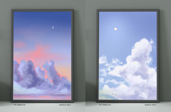 limited prints - sun and moon set
