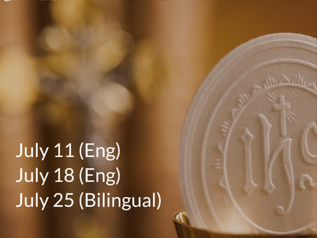 1st Communion Masses