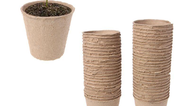 "50Pcs 2.4"" Paper Pot Plant Starters Seedling Seed Nursery Kit  Eco-Friendly"
