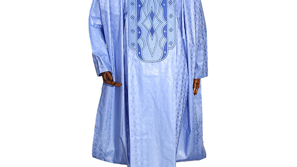 West African Traditional Wear Formal Attire Bazin  Shirt Pants Robe Suit No Cap