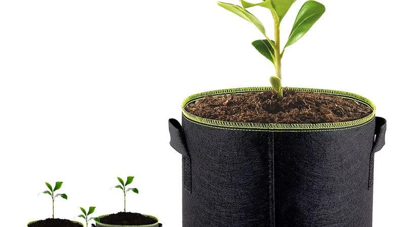 5pcs 5/7/10 Gallon Felt Plant Growing Bags Vegetable Flower Potato Pot