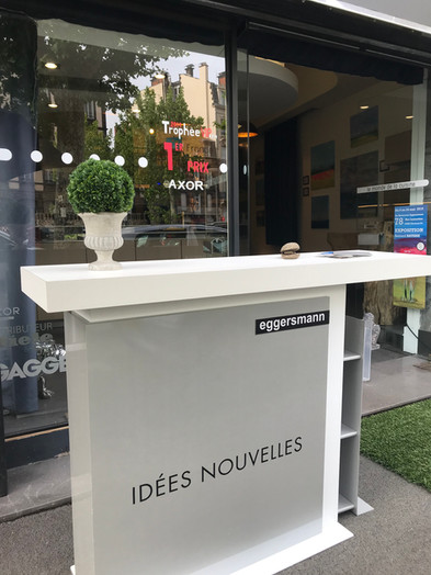 Le showroom acceuillant l'exposition de Bernard Batisse