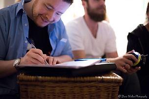 Writer Nick as script supervisor