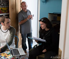 Lucy directing Clark