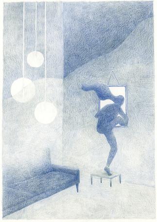 Back cover illustration for Muze