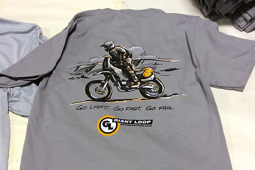 Camiseta Go Light. Go Fast. Go Far.