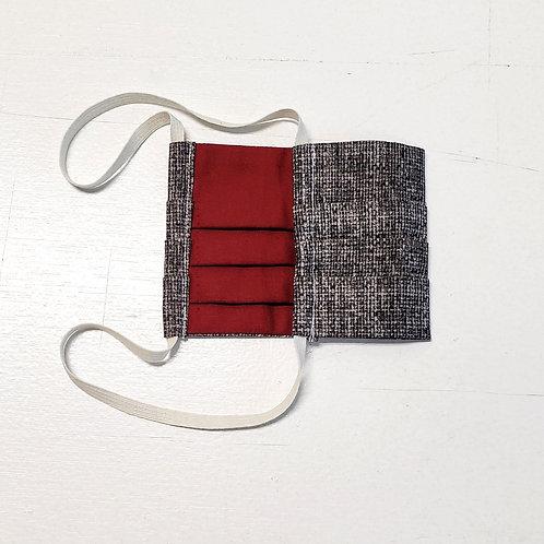 Grey Basket Weave w/ Burgundy