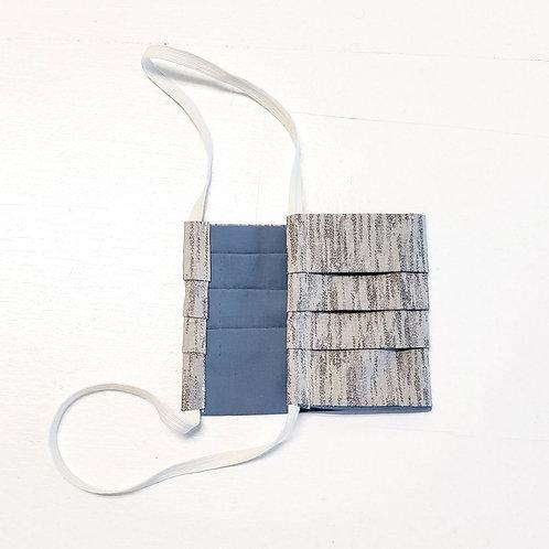Multi-grey w/ Dusty Blue