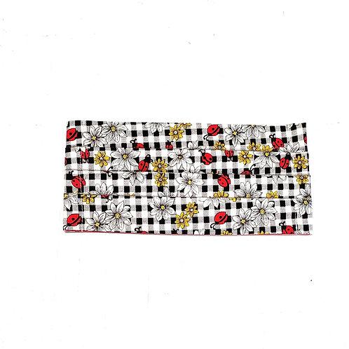 Flowers & Ladybugs w/ Red
