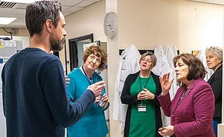 20191107 Jeane Freeman MSP visit HGU_edi