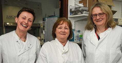 Maureen Watt MSP visits University of Aberdeen and NHS Grampian, Zosia Miedzybrodzka, Mandy Ryan